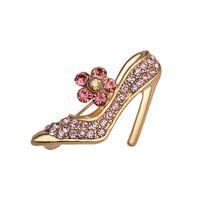 Nueva Llegada de Bling Completa de cristal zapatos de tacón Alto Broches Rhinestone zapatos de Baile Collar Pasadores de la Solapa Insignia Para Mujeres Hombres Regalo de La Joyería
