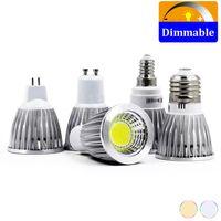 100шт / много Светодиодные лампы Диммируемый E27 E14 GU5.3 GU10 COB прожектор 3W 5W 7W Лампада светодиодные Bombillas светодиодные лампы прожектор