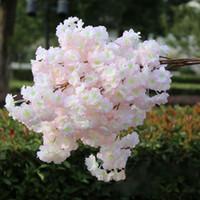 홈 장식 웨딩 파티 장식 인공 식물 플라스틱 가짜 꽃 실크 벚꽃 지점 꽃