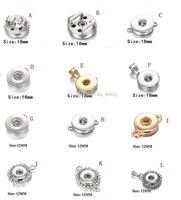 9 STYLES Noosa Or Argent Charms Pendentif Bouton pour Collier Bracelets bricolage Interchangeable Ginger accrochage Bijou d'accessoires