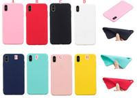 Matte macio TPU capa para Samsung Galaxy S10 PLUS S10E A7 2018 J4 J6 Huawei P30 PRO MATE 20 P Inteligente 2019 telefone de borracha dos doces fosco tampa da pele