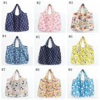 Sacos de compras dobráveis de nylon impermeáveis sacos de armazenamento reutilizáveis Sacos de compras amigáveis de eco sacos sacolas de grande capacidade EEE649-1