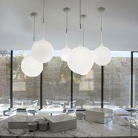 비버 펜던트 라이트 램프 다이닝 룸 침실 발코니 계단 크리 에이 티브 디자인 6 직경 유리 공 단일 램프