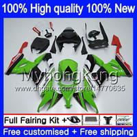 Körper für KAWASAKI ZX 10 R ZX1000C ZX10R 2008 2009 2010 Karosserie 217MY.15 ZX 10R 1000CC ZX1000 ZX10R 08 09 10 grün schwarz Verkleidungs