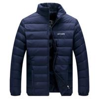 2019 pato blanco abajo chaqueta de invierno de los hombres ultraligero chaqueta abajo prendas de abrigo informal nieve cálido cuello de piel marca abrigo Parkas