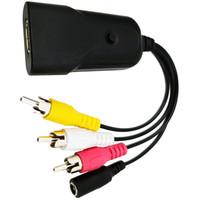 PS4 HDTV VHS HD DVD için PS3 için Erkek Adaptör HDMI2AV Adaptörü Standart HDMI Arayüzü AV CVBS 3RCA Dönüştürücü Kadın HDMI