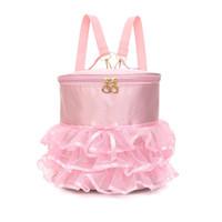 Wodoodporna taniec Plecak Różowe Dziewczyny Balet Torby Sporty Balerina Dzieci Rucksack Torebka z ładną ruffled Tutu Spódnicą Dress