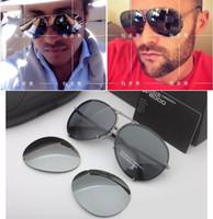 الفاخرة العلامة التجارية مصمم النظارات الرجال والنساء P8478 بارد الصيف نمط النظارات المستقطبة النظارات الشمسية نظارات الشمس 2 مجموعات عدسة 8478 مع الحالات