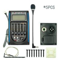 NAOMI 5PCS5 Banda acústica EQ de preamplificador Prener-PM Sintonizador de ecualizador de ecualizador de 5 bandas LCD con micrófono