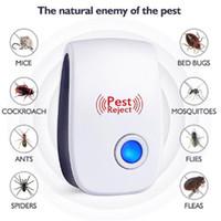 Sivrisinek Killer Pest Sıçan Fare Hamamböceği Kovucu Karşıtı Kemirgen Bug Ev Ofisi Reddet Elektronik Ultrasonik Haşere Kovucu Reddet