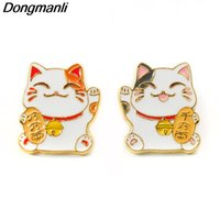 P3686 Wholesale 20pcs lot Lucky Cat Cute Metal Enamel Pins a...