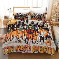 Naruto Omedetou Venta caliente 3D Conjuntos de ropa de cama impresos 3D Cubierta de edredón 3 Pics Duvet Funda de ropa de cama de alta calidad Suministros de cama Suministros de cama Textiles para el hogar
