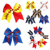 10 Colors Softball Headband Girl Baseball Cheer Hairbands Ru...