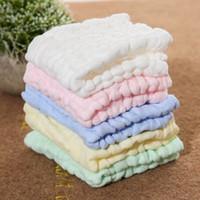 Слои детского питания протрите полотенца хлопок носовой платок детское полотенце для лица сложите квадратное полотенце новорожденный стиральная полотенце