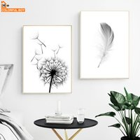 Posters And Prints Wall Art Canvas Painting Dandelion Feathe...