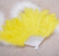 Turquie éventail de plumes de couleur éventail de plumes danse feathe 21 fan de plumes WL283