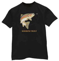 Rainbow trout Fish lure Fly Fishing shirt T- shirt