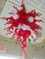Nuovo stile Cucina in vetro soffiato Lampadario bianco e rosso Handicraft Glass Art illuminazione come decorazione domestica