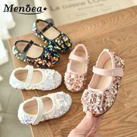 Menoea 21-30 Girls Kid Shoes 2020 Summer Girl Casual Autumn Party Sandals Children Cool Sequined Flats Children's Princess Shoes
