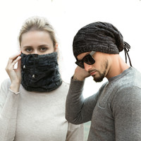 New Designs Warm Knitted Hat Beanie Cotton Neckerchief Hats ...