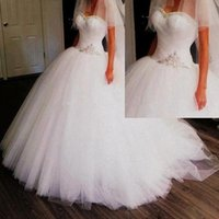High Quality Sweetheart Ball Gowns Crystal Wedding Dresses F...