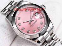 WF Maker Senhoras 28mm Datejust 279135 279175 Presidente Top Quality ETA 2671 Pink Light Dial Movimento Automático Mulheres Safira Relógios