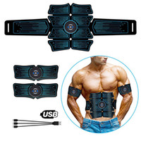 EMS Muscle abdominal Stimulateur formateur USB Connect Abs Fitness Equipment Entraînement muscles engrenages Électrostimulateur Toner Massage