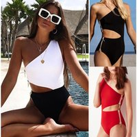 Women Swimsuit One Piece Push Up Swimwear Bikini Set Sexy Be...