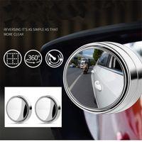 2 pz Mini specchietto retrovisore Auto Vista posteriore Specchietto retrovisore Piccolo specchio rotondo GRANDE Vision Reverse Reverse Assist Blind Punto 360 Rotary