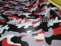 Pellicola autoadesivo per auto bianco mimetico Camouflage di Ubran bianco neve rossa