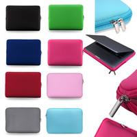 Soft Cover cassa del computer portatile da 13 pollici Laptop Bag Zipper manicotto protettivo Borse da trasporto per le borse per notebook iPad MacBook Air Pro Ultrabook