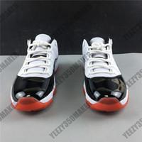 New Jumpman 11 11S schwarz rot niedrig Real Carbon Fiber Männer-Basketball-Schuhe der weißen Männer Trainer Sport athletische Turnschuh-Größe 36-47 AV2187-160