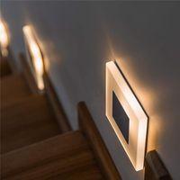 Gömme dekoratif gece Kapalı Merdiven adımını Footlight aplik Yeni duvar ışık 3W Kare akrilik duvar led Modern lamba yanar