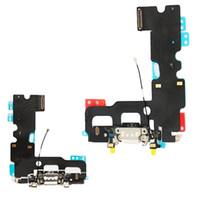 """10 개 새로운 충전기 충전 포트 독 USB 커넥터 플렉스 케이블 아이폰 7 7 그램 4.7 """"7 플러스 헤드폰 오디오 잭 리본"""