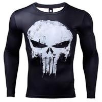 3d Impresso camisetas Homens de compressão shirts de manga comprida Cosplay Crossfit da aptidão Vestuário Tops Masculino Black Friday Magro