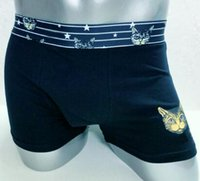 Trade Men Cotton Soft Boxers Leopard Cat Star Print Underwea...