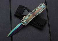 MT 3300 золотой ушка раковина тактический автоматический нож EDC портативный открытый охотничий нож 440C кемпинг выживания карманный нож мужской подарок