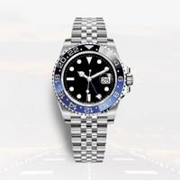 몬트리올 드 럭스는 자동 시계 GMT 도자기 전체 스테인레스 스틸 40mm 슈퍼 발광 방수 relojes de lujo para hombre
