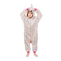 Kinder Einhorn Schlafanzug Baby Kapuzen Einhorn Nachtwäsche Jungen Mädchen Cartoon Onesies Kinder Flanell Tier Cosplay Kostüm Strampler GGA2455