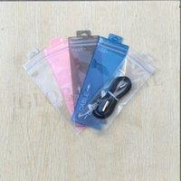7 * أكياس 19.5CM سحاب PVC الحلوى الملونة شفافة ماتسمى حزمة البريدي كيس من البلاستيك بولي أكياس OPP التعبئة لكابل الهاتف