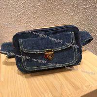 2019 novo saco da cintura calças de brim do vintage unsex todos os jogo mulheres moda zipper cintura flap denim patchwork bolsa carteira bolso flore woc câmera bag444