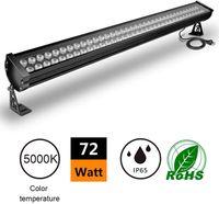 72W LED الجدار غسالة الخطي ضوء بار، [200W HPS / HID المكافئة]، AC100-240V، IP65 للماء، 3.2ft / 40 بوصة، والكنائس والفنادق