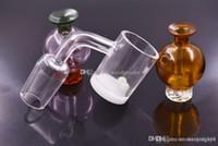 Ciclone Riptide vetro colorato Carb Protezione Con fori per l'aria di carboidrati per il quarzo Banger Bowl D = 21,5 / 25mm Oil Rigs