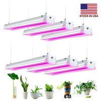 US-aktier + LED växer ljus, fullt spektrum, högproduktion, länkbar design, 4ft T20 integrerad glödlampa + fixtur, växtljus för inomhusplantor