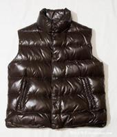 أزياء الشتاء أسفل سترة الرجال سترات دافئة صدرية عالية الجودة في الهواء الطلق بلا أكمام معطف XXXL تصميم زائد الحجم