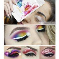 Eye Liner Tattoos Makeup Eye Shadow Sticker para hacer ojos más grandes con herramientas cosméticas de sombra de ojos 30 pares / set LJJR1084