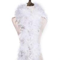 2yard flauschige weiße TurkeyFeather Boa Etwa 60 Gramm Kleidung Accessoires Huhn-Feder-Kostüm / Shaw / Federn für Handwerk Party