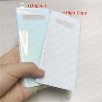 50PCS OEM Batteria Porta alloggiamento della copertura posteriore copertura di vetro per Samsung Galaxy S10 Inoltre G973 G975 con sticker adesivo DHL