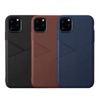Hybrid weiche TPU Geschäfts-Leder-Kasten für iPhone 11 Pro Max Samsung Anmerkung 10 10 + A10 A20 A30 A50 A40 A70 A60 A80 A2 Core-A20E A10S A30S A50S