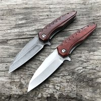 Promotion Flipper Folding Knife D2 Steel Stone Wash   Satin ...